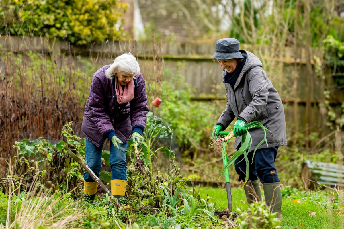 Two Women Gardening from the Centre for Centre for Ageing Better Age-positive image library
